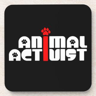 Animal Activist Beverage Coasters