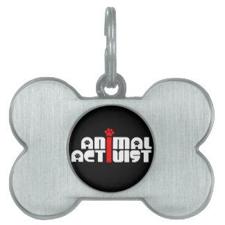 Animal Activist Pet Name Tags