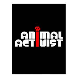 Animal Activist Postcard