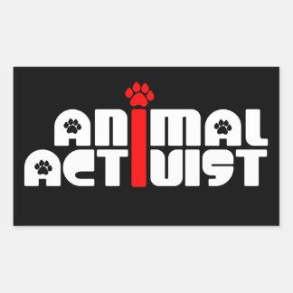 Animal Activist Rectangular Sticker