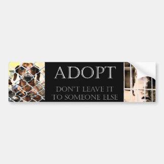 Animal Adoption Bumper Sticker