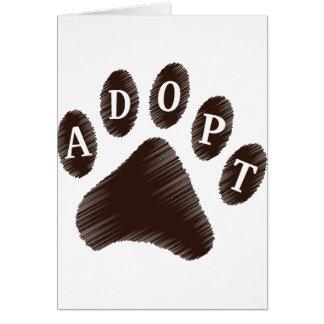 Animal Adoption Card