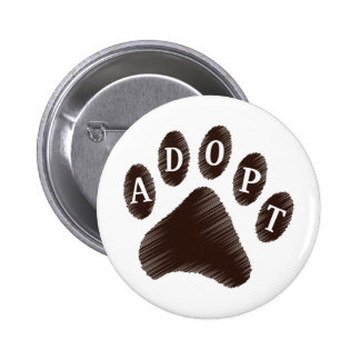 Animal Adoption Pinback Button
