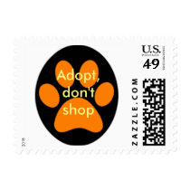 Animal adoption postage stamp