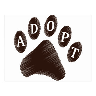 Animal Adoption Postcard