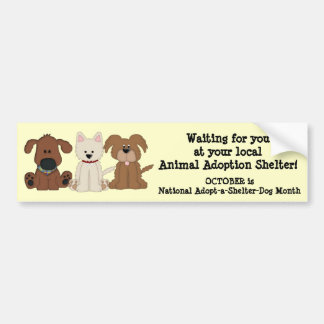 Animal Adoption-Rescue/Shelter Dogs Bumper Sticker