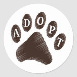 Animal Adoption Round Sticker