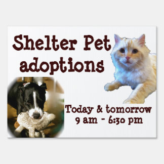 Animal Adoption Shelter Pet Signs