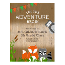 Animal Adventure | Welcome Back to School Postcard