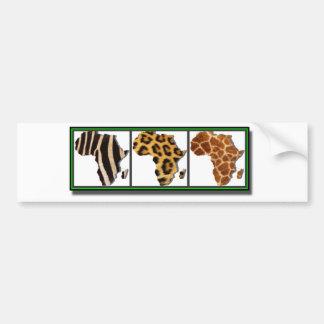 Animal africano Collage2 Pegatina Para Auto