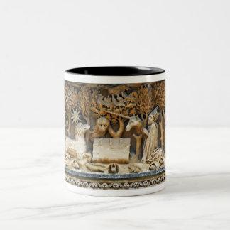 Animal Allegory Two-Tone Coffee Mug