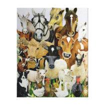 Animal Allsorts Canvas Print