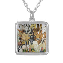 Animal Allsorts Silver Plated Necklace