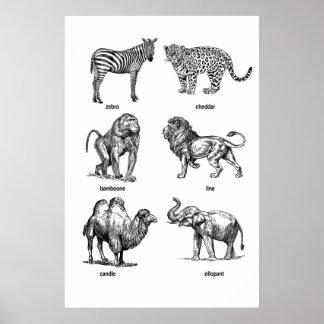 Animal Almanac Posters