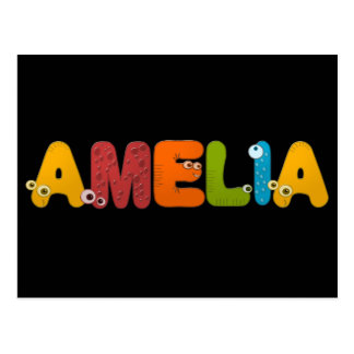 animal alphabet Amelia Postcard