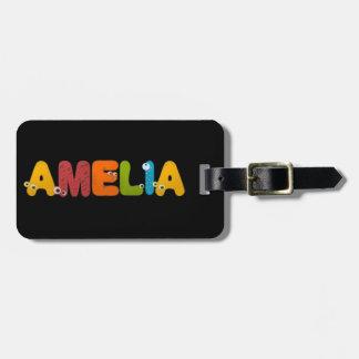 animal alphabet Amelia Tags For Luggage