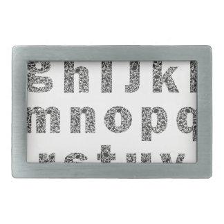Animal alphabet belt buckle