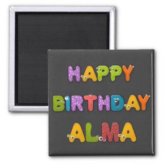 animal alphabet birthday 2 inch square magnet