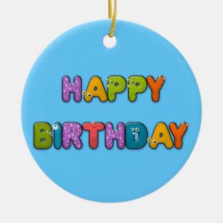 animal alphabet birthday ceramic ornament