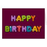 animal alphabet birthday greeting card