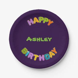 animal alphabet - birthday paper plate