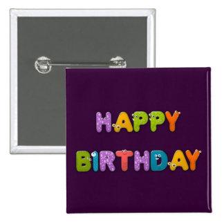 animal alphabet birthday pinback button