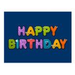 animal alphabet birthday post cards