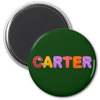 animal alphabet Carter 2 Inch Round Magnet