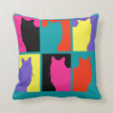 Animal Alphabet: cat and squirrel Throw Pillow