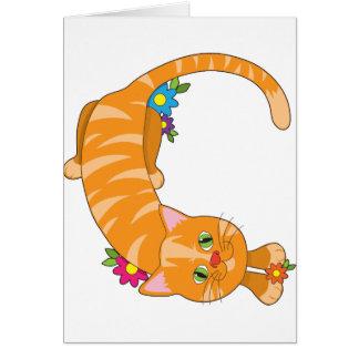 Animal Alphabet Cat Card