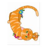 Animal Alphabet Cat Postcard