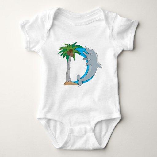 Animal Alphabet Dolphin Baby Bodysuit