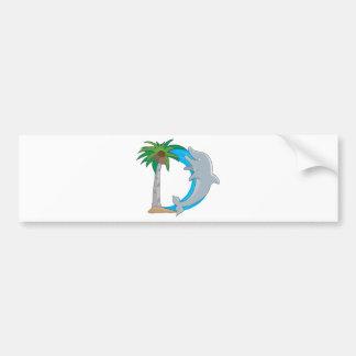 Animal Alphabet Dolphin Car Bumper Sticker