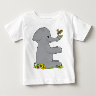 Animal Alphabet Elephant Baby T-Shirt