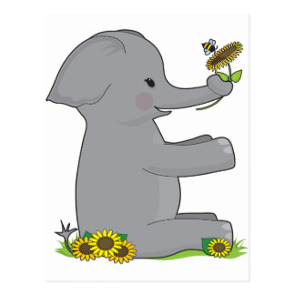 Animal Alphabet Elephant Postcard