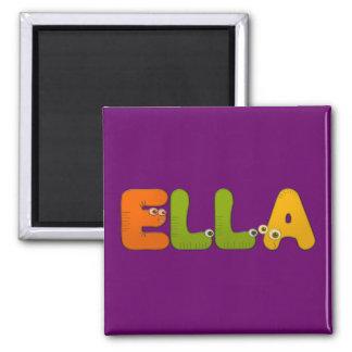 animal alphabet Ella 2 Inch Square Magnet