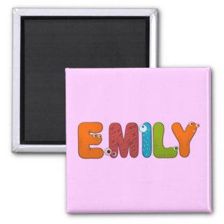 animal alphabet Emily 2 Inch Square Magnet