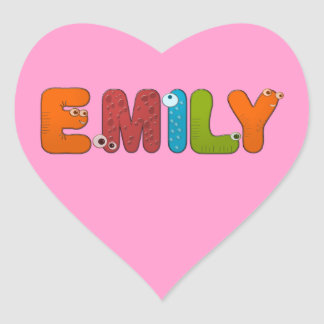 animal alphabet Emily Heart Stickers