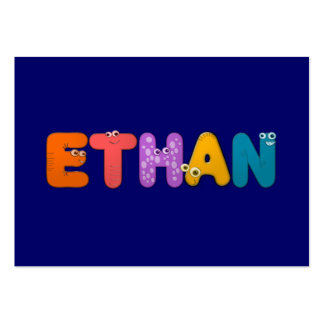animal alphabet Ethan Large Business Cards (Pack Of 100)