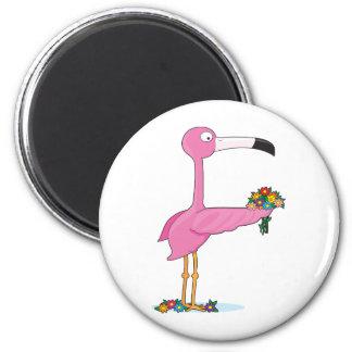 Animal Alphabet Flamingo 2 Inch Round Magnet