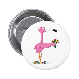 Animal Alphabet Flamingo Button