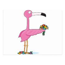 Animal Alphabet Flamingo Postcard