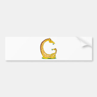 animal alphabet G Car Bumper Sticker