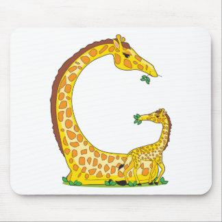 animal alphabet G Mouse Pad