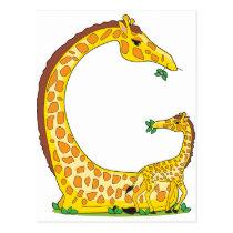 animal alphabet G Postcard