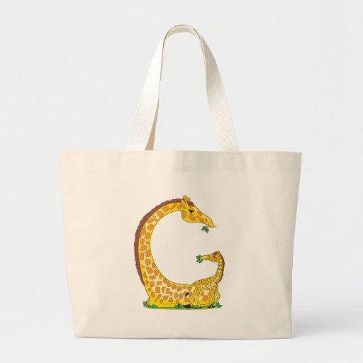 animal alphabet G Tote Bag