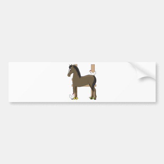Animal Alphabet Horse Bumper Sticker