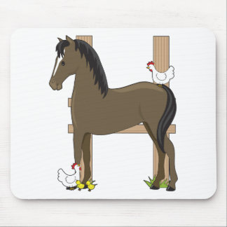 Animal Alphabet Horse Mouse Pad