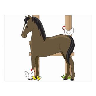 Animal Alphabet Horse Postcard