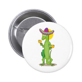 Animal Alphabet Iguana Button